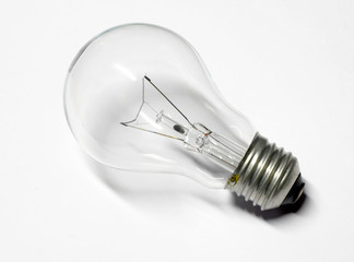 bulb with shadow on white background