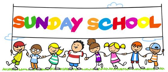 Happy Kids in Sunday School