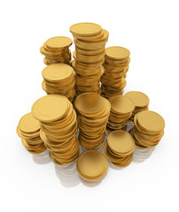 Stack of gold coins.