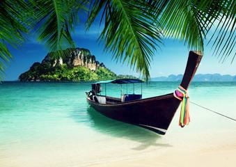 long boat and poda island, Thailand
