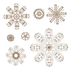 Geometric circular ornament set