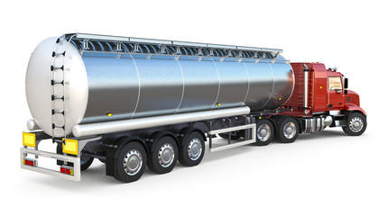 Isolated tanker on white background