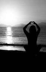 Girl saluting the sun