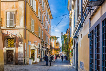 ancient streets and alleys of Rome