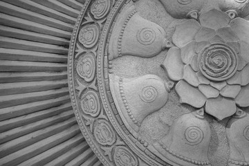 Stone carving  flower.