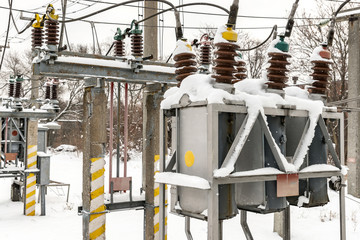 High voltage electrical equipment substation