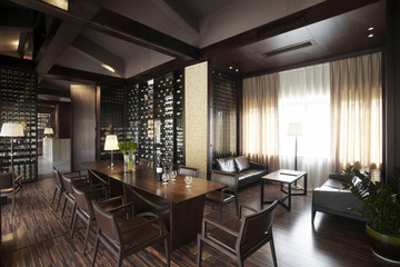The clubhouse interiors