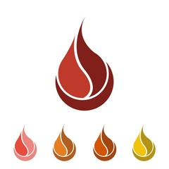 Fire vector logo icon