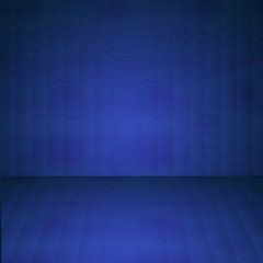 Striped wooden floor and wall background illustration in blue