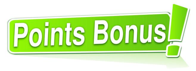 points bonus sur étiquette verte