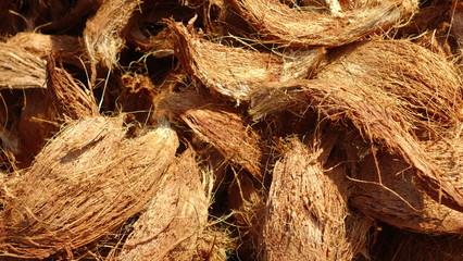 background of coconut spathe fiber