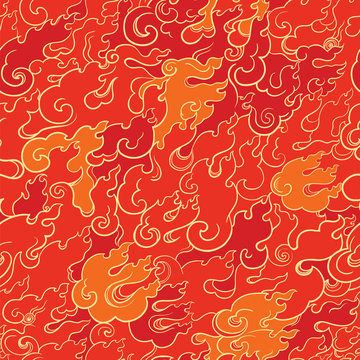 abstract fire seamless pattern