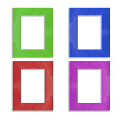 colorful  frame isolated on white background