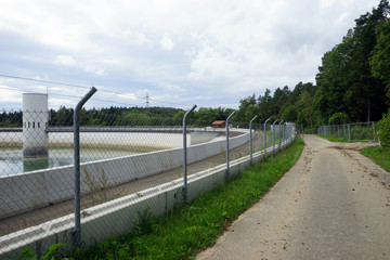 Fence and road