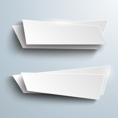 2 White Paper Vector Banners