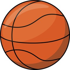 Basket ball cartoon illustration