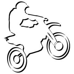 Silhouette d'un coureur moto trial