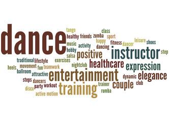 Dance, word cloud concept 2