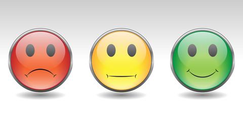 Button Set mit Smileys - Bewertungssystem