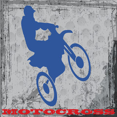 Silhouette d'un coureur de motocross grunge