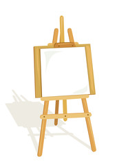 easel for artist isolated