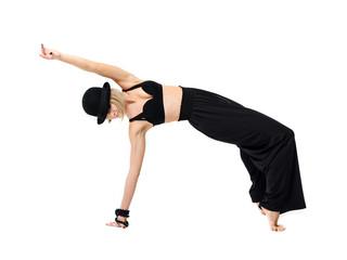 Dancing woman in black