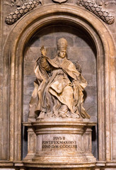 Statue of Pope Pius II in Siena, Italy