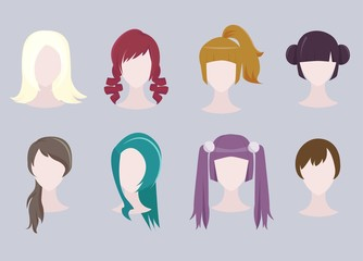 Different Hairstyle Set