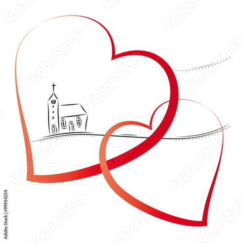 Hochzeit Heirat Kirchliche Trauung Kirche Mit Zwei