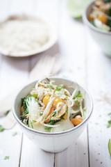 Pakchoi Gemüse mit Reis