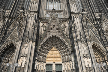 Cologne Cathedral Detail View