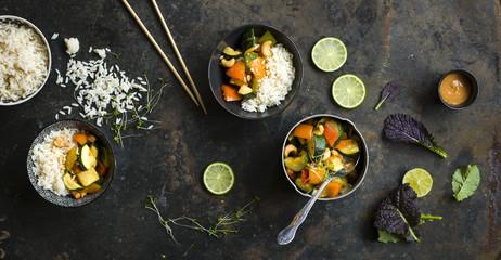 Thai Gemüse mit Reis