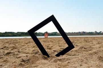 Cadre sur la plage