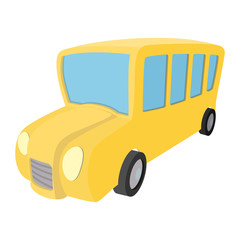 School bus cartoon icon