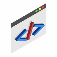 Greater than or less than isometric 3d icon