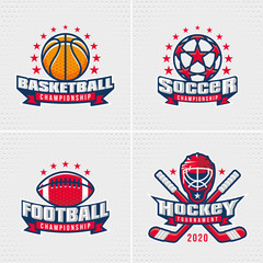 Set of Sport Badge Logo Design Templates