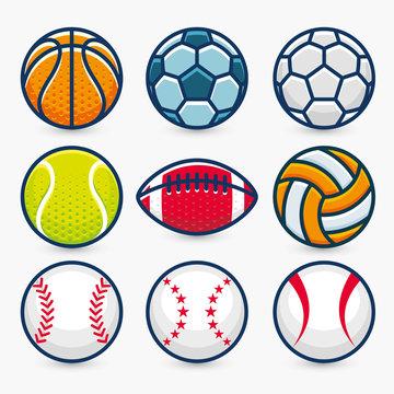 Set of Sports Balls.Vector Illustration.