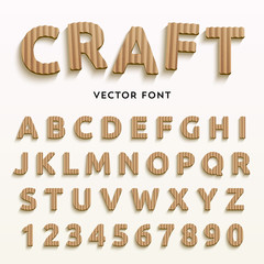 Vector cardboard letters.