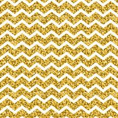 Seamless gold geometric pattern with Zig zag stripes.