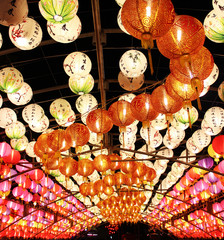 chinese lantern in the chinese new year celebration