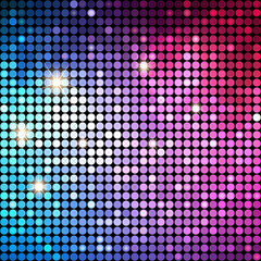 Colorful Dots Abstract Disco background. Vector Background