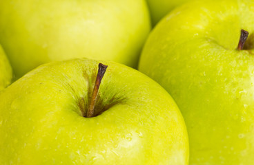 close up photograph of delicious green apples
