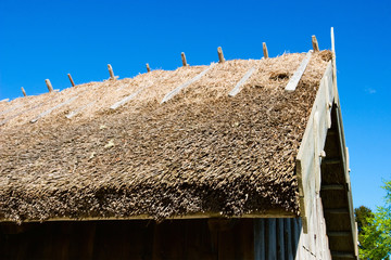 Wall Mural - Straw roof