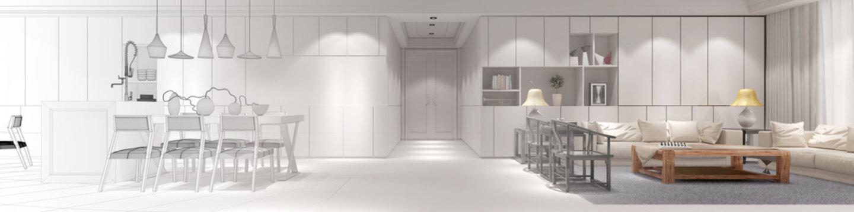 Innenarchitekt Loft mit Wohnküche