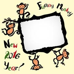 Monkey frame or card