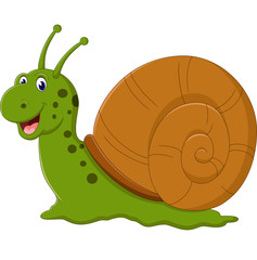 illustration of Cute snail cartoon