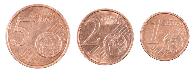 Set euro cents