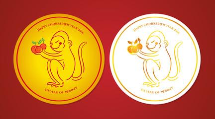 The year of monkey badges
