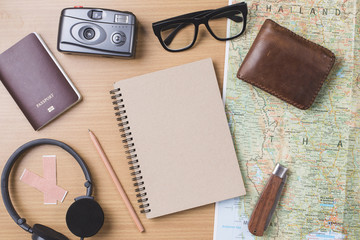 Diary travel concept