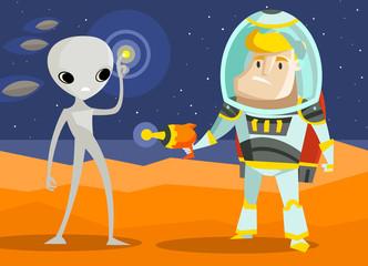 space war on mars